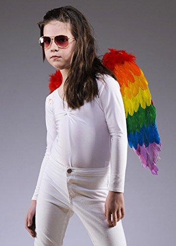 Kinder Größe helle Regenbogen Feder Engel Flügel