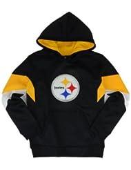 Youth Pittsburgh Steelers Black Shadow Pullover Hoodie