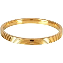 The Amritsar Store Designer Brass Kada (Lines) 6 mm thickness (2.5)