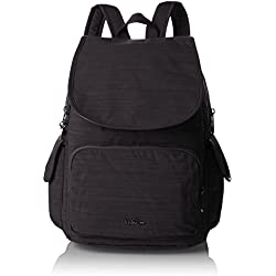 Kipling City Pack, Mochilas Mujer, Schwarz (Dazz Black), One Size