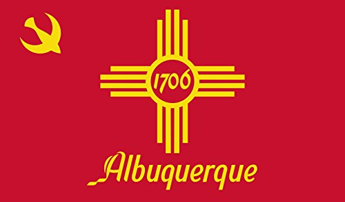 Albuquerque New Mexico (magFlags Flagge: Large Albuquerque, New Mexico | En Albuquerque, New Mexico | Querformat Fahne | 1.35m² | 90x150cm » Fahne 100% Made in Germany)