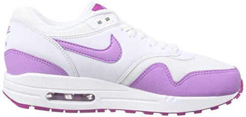 Nike Air Max 1 Essential, Running Femme Blanc (Blanc/Violet)