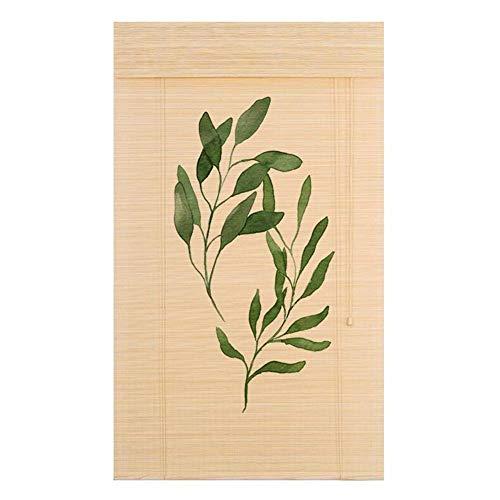 WUFENG Bambus Rollo Drucken Rollo Schatten Antiseptikum Dekoration Abgeschnitten, 3 Stile Mehrere Größen Anpassbar Türvorhang (Farbe : A, größe : 100x120cm)