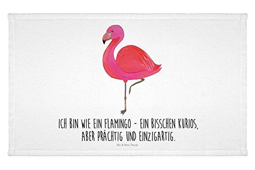 Mr. & Mrs. Panda Gäste Handtuch Flamingo classic – 100% handmade in Norddeutschland – Flamingo, Einzigartig, Selbstliebe, Stolz, ich, für mich, Spruch, Freundin, Freundinnen, Außenseiter, Sohn, Tochter, Geschwister Gästehandtuch, Handtuch, Handtücher