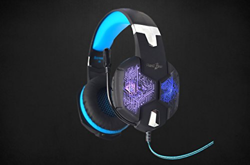 Redgear Hell Scream Professional Gaming Headphones with 7 RGB LED Colors and Vibrations(PC) Image 5