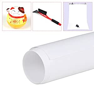 Dwcx White Photo Photography Studio Shadowless Washable Small PVC Backdrop Background Fadeless Paper 68cm*130cm