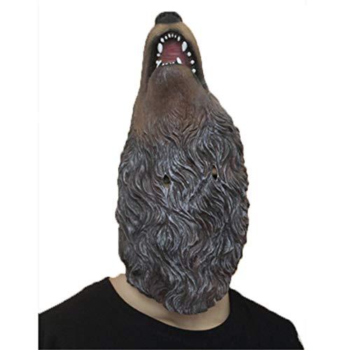 JUKUB Animal Hood Schreien Wolf Maske Halloween Dekoration Kostüm Maske Cosplay Vollkopf Maske Latex