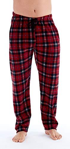 Pyjama-Hose aus Polarfleece, für Herren, klassisch, kariert Gr. M, rot kariert