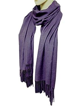 [Patrocinado]FIA MONETTI Bufanda de mujer Cashmere - violeta - 170 x 66 cm - en un diseño atemporal - ¡un accesorio ideal para...