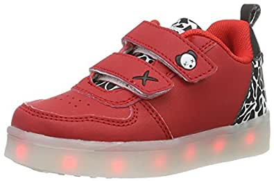 wize & ope Unisex-Kinder LED-K03CAM Low-Top, Rot (Red Camo), 30 EU