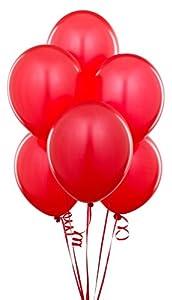 Gifts 4 All Occasions Limited SHATCHI-39 - Lote de 100 globos de látex rojos de 30 cm, calidad de helio para decoraciones de fiesta