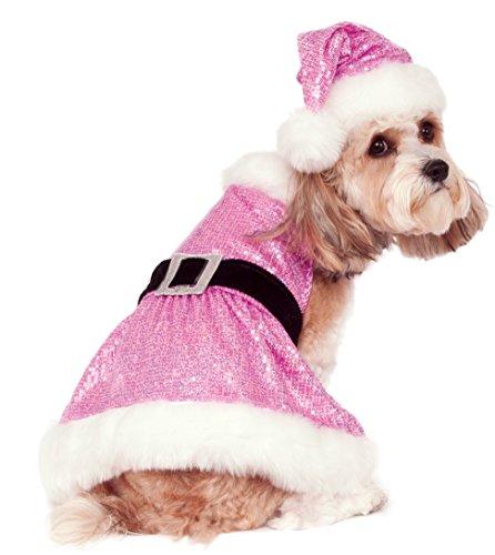 Rubies Costume Pailletten Mrs. Claus Pet Kostüm, (Kleider Mrs Santa)