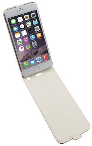 Caseit Executive Schutzhülle Leather Effect Vertikal Flip Case Cover in Lederoptik für iPhone 6/6S - Schwarz Weiß