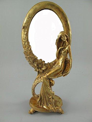 Schminkspiegel GOLD golden Stehspiegel Frisierspiegel Tischspiegel Standspiegel SPIEGEL Antik...