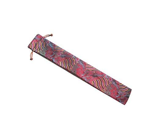 Kostüm Tanz Taschen - CHN Elements.accessories FANC-LRM Fächerbeutel mit Kordelzug, Fächertasche mit orientalischem Design, für Tai Chi oder Tänze, 39 cm lang