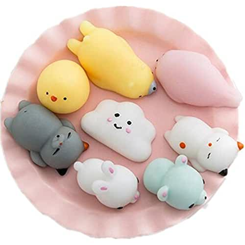 juguetes kawaii DouTree 2018 8 Pcs Kawaii Suave Gato Squishy Healing Squeeze Diversión Kid Toy Presente Stress Reliever Decor