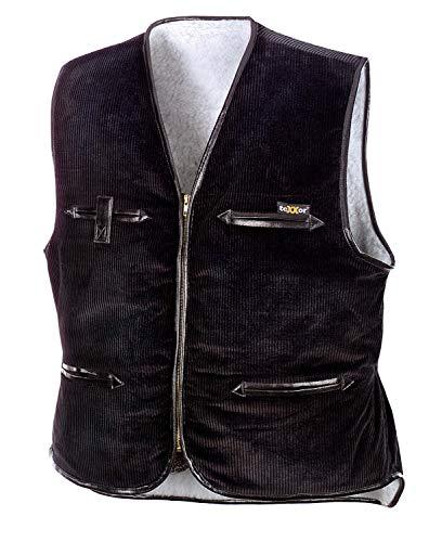 teXXor Arbeitsweste Vega, gefütterte Breitcordweste XL, schwarz, 4200 -