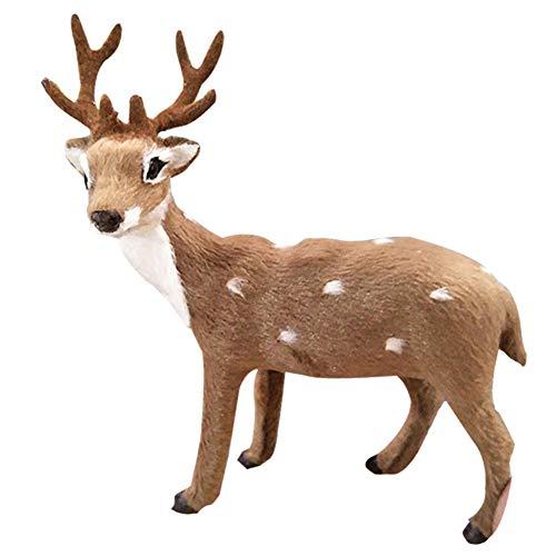 WLGREATSP - Figura Decorativa de Reno navideño, diseño de árbol de Navidad, para jardín al Aire Libre, con Forma de Alce de Peluche, decoración de muñecas de Reno de Navidad