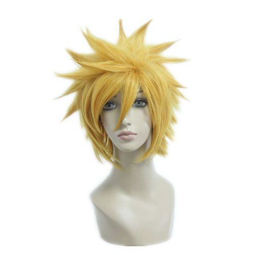 Kostueme Peruecke Kingdom Hearts Original Soundtrack Complete Box Ventus Blond Kurz 32cm Karneval Party Haar (Kostüm Box Perücken)