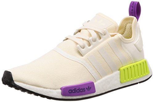adidas Herren NMD_r1 Fitnessschuhe, Beige Chalk White/Semi Solar Yellow, 39 1/3 EU