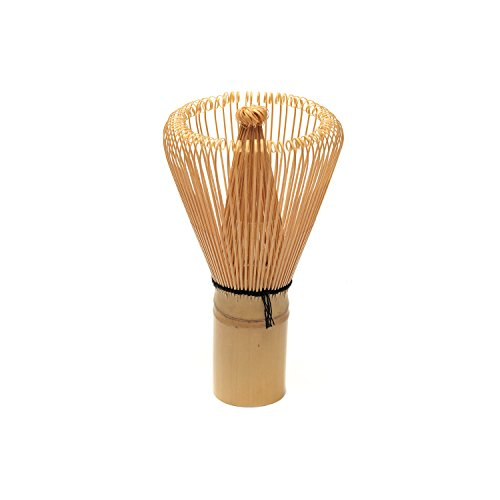 P & T Chasen Blonde, Batidor de Bambú para Té Matcha, Tradicional Hecho a Mano 80 Cerdas