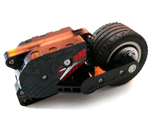 Preisvergleich Produktbild LEGO ® - Rückziehmotor - mit Rad für Motorrad - 10 x 5 x 4 - schwarz Motor pull back