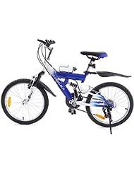 MuGuang 6 Vitesses 20 Pouces Enfant Vélo de Montagne Venez avec Bouilloire 500cc pour Les Enfants de 7 à 12 Ans