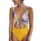 Huicai Einteiliger Badeanzug sexy Weiblich Drucken Badeanzug Sommer Hohe Taille Strand Badeanzug