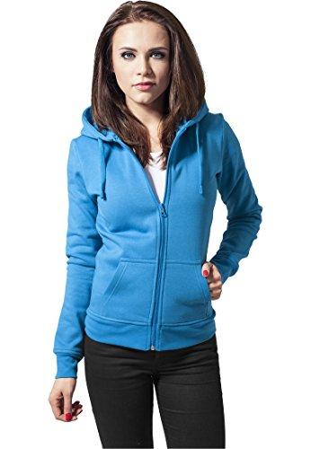 Ladies Zip Hoody turquoise S