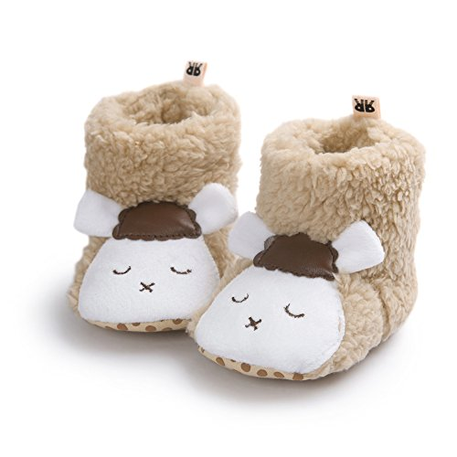 Fire Frog  Cartoon Winter Boots, Baby Jungen Krabbelschuhe & Puschen Brown Sheep