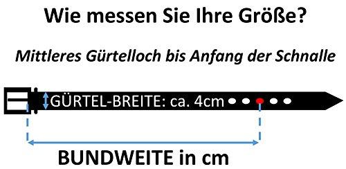 Trachtenkönig Trachtengürtel Original Unisex zur Lederhose Bayern Wappen Kürzbar (95 cm, Dunkelbraun (Vollrindleder))_TK05_01_M_95 - 5
