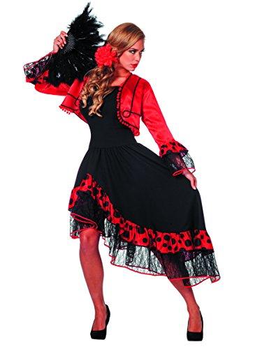Generique - Flamencotänzerin Kostüm für - Für Erwachsene Spanierin Kostüm