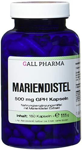 Gall Pharma Mariendistel 500 mg GPH Kapseln, 1er Pack (1 x 180 Stück) -