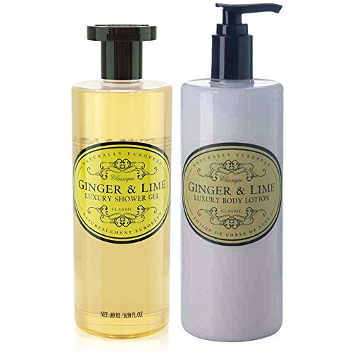 Fragrance Free Body Care Lotion (Naturally European Ginger & Lime Shower Gel & Body Lotion Duo Pack)