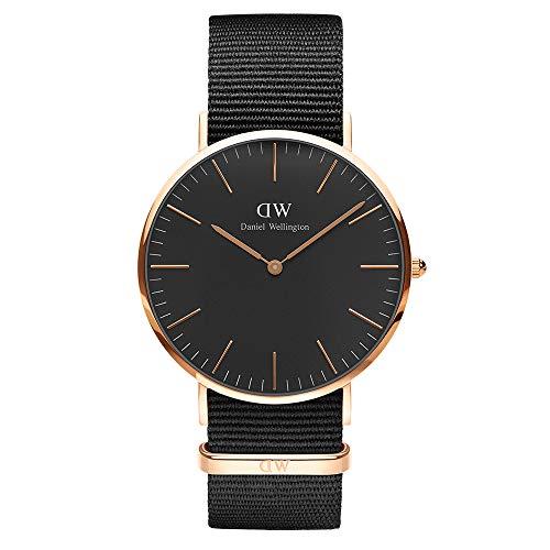 Daniel Wellington Reloj analogico para Unisex de Cuarzo con Correa en Nailon DW00100148
