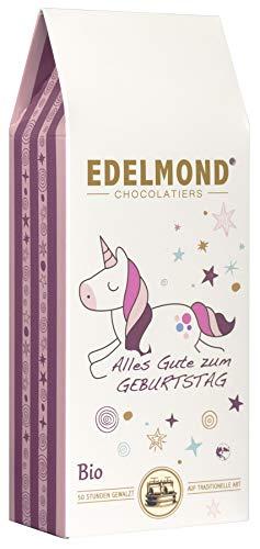 Edelmond Einhorn Bio. Tolle Frucht Schokolade, ein liebes Geschenk für Mädchen oder die Freundin. Ohne Farbstoffe zum Kinder Geburtstag. 125 gr. - Herren Schokolade