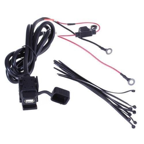 Preisvergleich Produktbild TOOGOO(R) USB Steckdose mit Sicherung USB Einbaubuchse Zubehoer fuer Motorrad/Fahrrad 2,1m