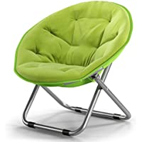 AJZXHEIdea Simple Silla Plegable Silla reclinable Silla Redonda Respaldo (Color : A)