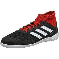 Adidas Predator Tango 18.3 In, Zapatillas de fútbol Sala para Hombre, Negro (Negbás/Ftwbla/Rojo 001), 40 2/3 EU