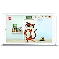 Odys Tige rtab Écran IPS 20,3cm (8pouces) Tablette PC Flash pour les enfants (Quad Core Processeur, 1Go RAM, 16Go HDD, Android 6.0) Blanc avec Bumper/Etui et enfants Sélectionnée Contenu