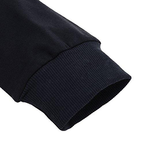 LAEMILIA Pull Femme Col Rond Manches Longues Glace Cornet Imprimé Pull-over Tops Hauts Chemise avec Mimitoss Noir