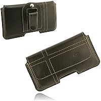 ORLINE funda piel Apple iPhone 55S se funda Cinturón Funda Funda de piel Funda rígida Case Cover Piel Carcasa mano trabajo con pinza