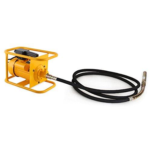 EBERTH Elektro Betonrüttler Vibrator (3000 Watt, 60mm, 10m, Rüttelflasche, Tragegriff) gelb