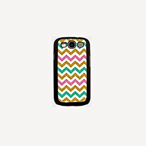 Krazycases Chevron With Glitter Back Shell Cover For Samsung Galaxy S3