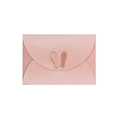 Jia HU 100Buchstabe Umschlag Schmetterling Schnalle Umschlag Geburtstag Karte Grußkarte rose (Kleine Karte ärmel)
