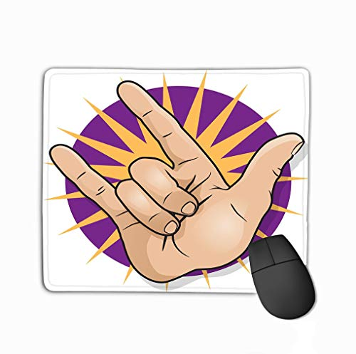Mousepad Non Slip Rubber Personalized Unique Gaming Mouse Pad 11.81 X 9.84 Inch pop Art Rock roll Hand Sign Great Style Gesturing Classic Fist Pump Paintings Classic Pump