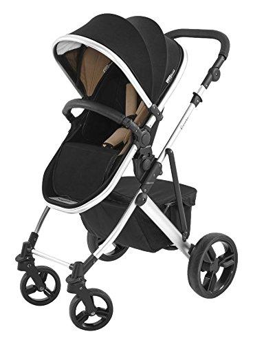 Tutti Bambini Riviera Plus 3-in-1 Silver Travel System, Black/Taupe