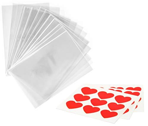 100 x Bolsas Celofán Transparentes pegatinas