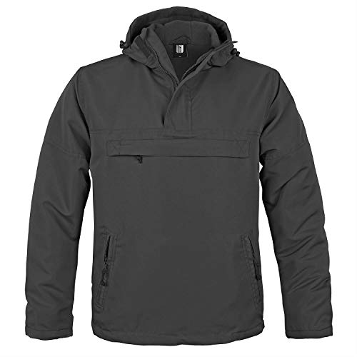 BW-ONLINE-SHOP Hooded Windbreaker mit Fleecefutter schwarz - S