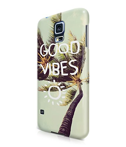 Good Vibes Only Palm Trees California Summer Plastic Snap-On Case Cover Shell For Samsung Galaxy S5